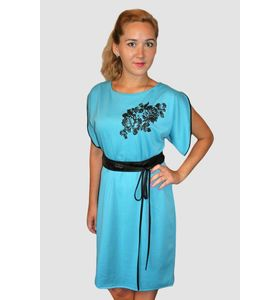 """Платье женское """"Лазурь"""" с поясом"""