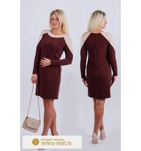 """Платье женское """"Брауни"""" с длинным рукавом"""