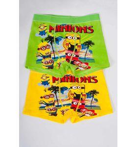 """Трусы детские для мальчика """"Minions"""" боксёры в упаковке, 2 шт."""