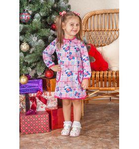 """Платье детское для девочки """"Панда"""" с длинным рукавом"""