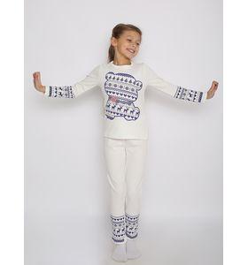 """Пижама детская """"Нега"""" с шелкографией лонгслив и брюки"""