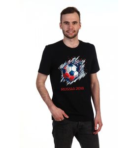 "Футболка мужская ""Russia 2018"" с коротким рукавом"