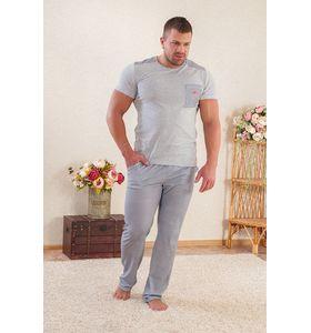 "Костюм мужской домашний ""Поцелуйчик М"" футболка и брюки"