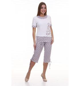 "Пижама женская ""Капучино"" футболка и брюки"