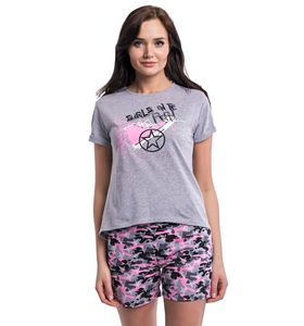 """Комплект женский """"Прятки"""" футболка и шорты"""