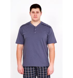 "Костюм мужской ""Клетка"" футболка и брюки"