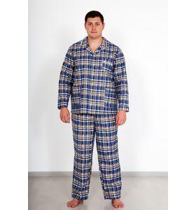 "Пижама мужская ""Фланель"" рубашка и брюки"