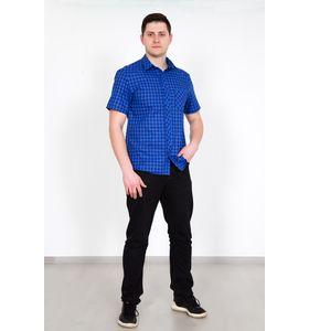 """Рубашка мужская """"Ромио"""" синяя"""