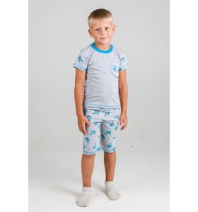 """Пижама детская для мальчика """"Зайка-2"""" с коротким рукавом"""