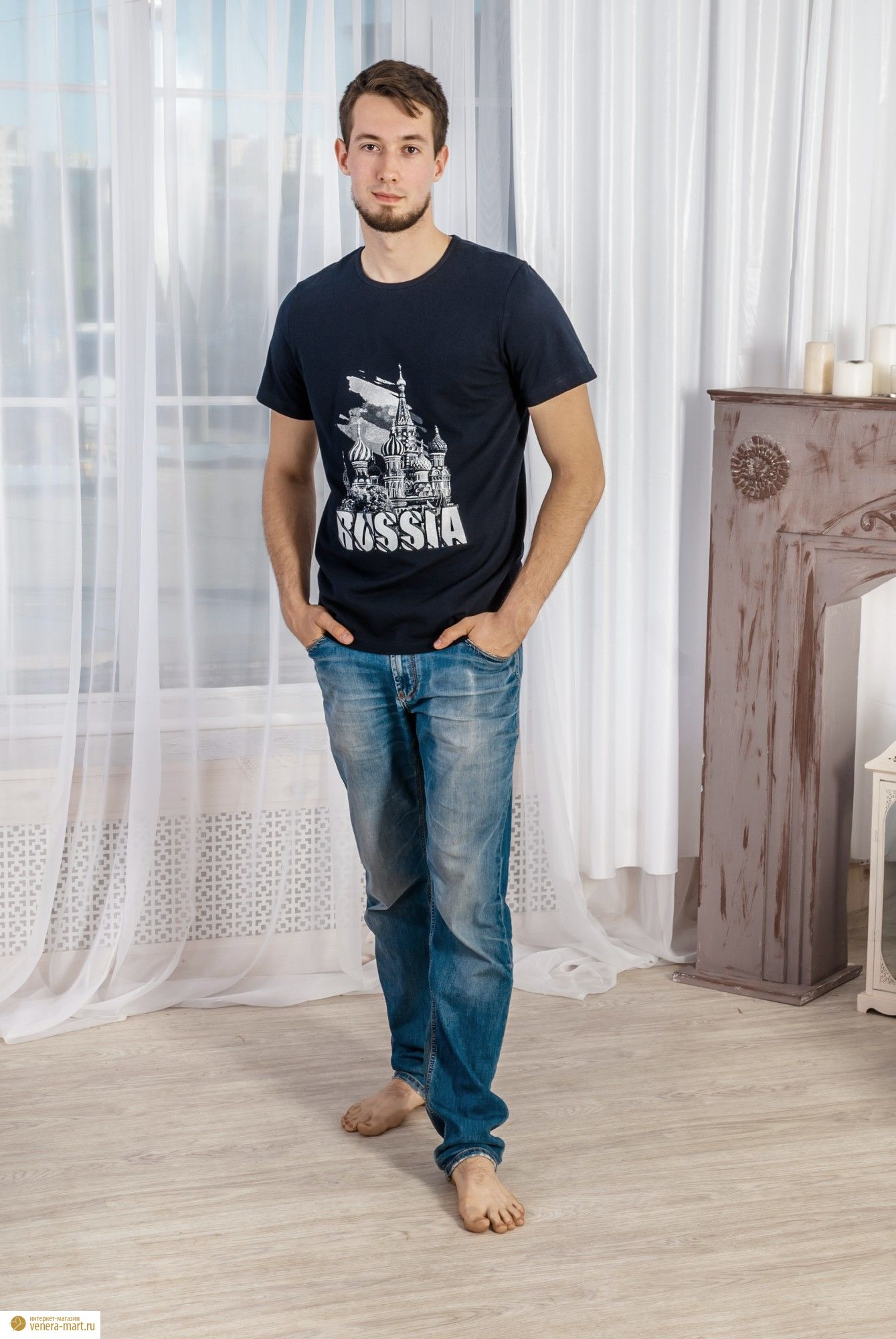 "Футболка мужская ""Россия"""