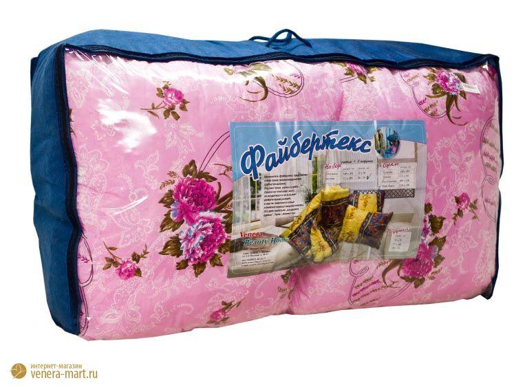 """Набор для спальни """"файбертекс"""" (в полиэстере) 1 одеяло + 2 подушки"""