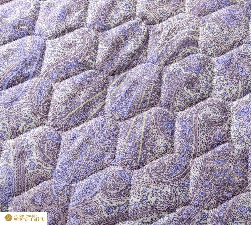 """Покрывало стеганое """"Кашмир"""" из сатина фиолетовый"""