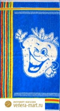 "Полотенце махровое ""Забавные фрукты"" 30х60"