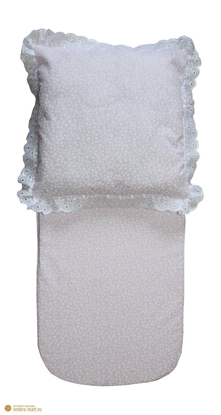 "Комплект в коляску ""Снежинка"" матрац и подушка"