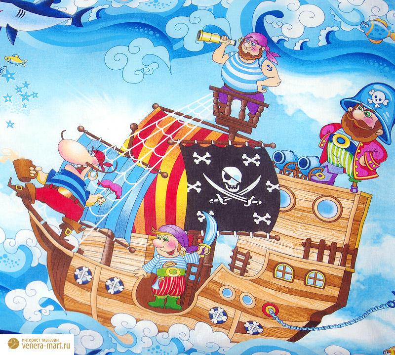 """Комплект постельного белья """"Пираты 1"""" из бязи"""
