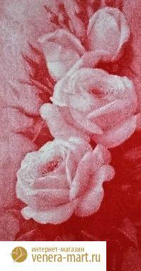 """Полотенце махровое жаккардовое """"Розы"""" банное"""