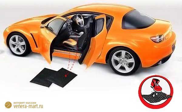 Влаговпитывающий автомобильный коврик «Автопамперс» (абсорбирующий, многоразовый) коврик в салон автомобиля.