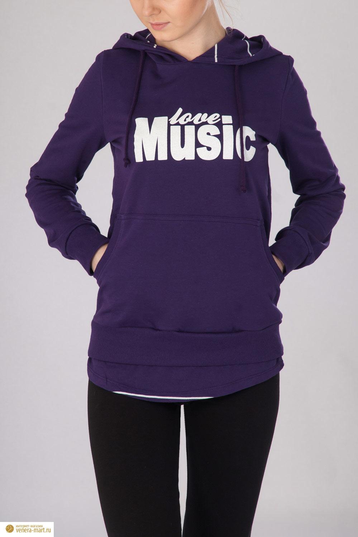 """Анорак женский """"Music Girl"""" с капюшоном"""