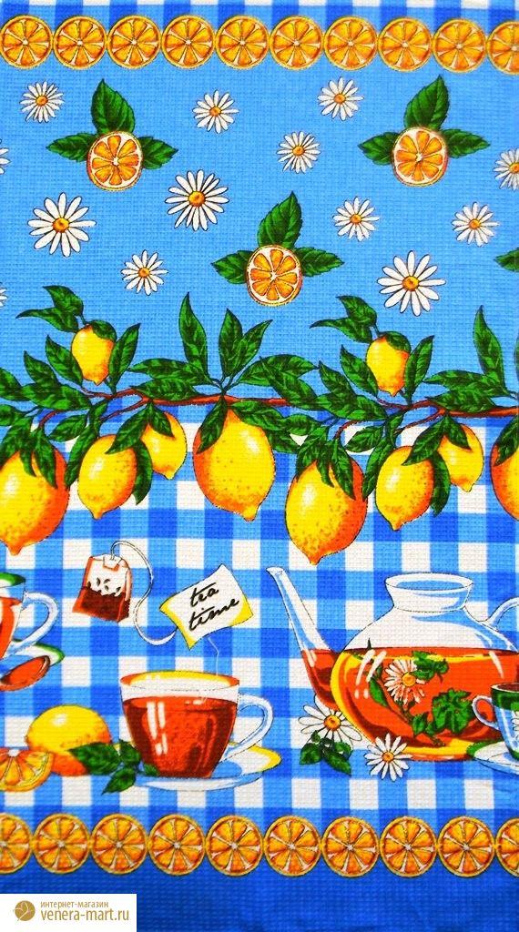 """Набор вафельных полотенец """"Чай"""" (5 шт.)"""