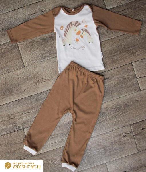 Костюм (рубашка-лодочка, ползунки с ластовицей на манжете)