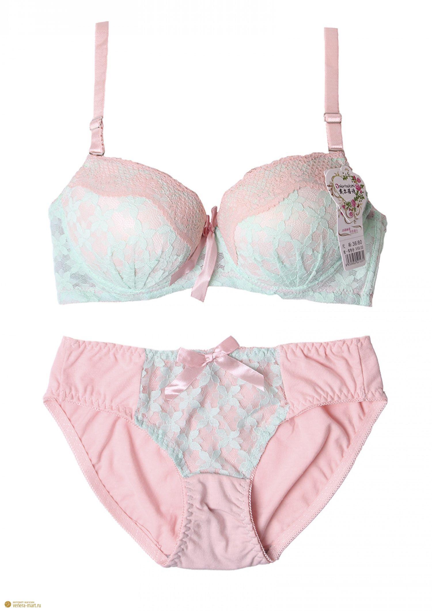 Комплект нижнего белья женские лифчик и трусы нижнее белье боди кружевное как носить