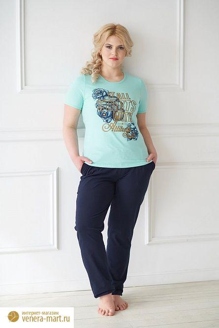 """Комплект женский """"Испания"""" футболка и брюки"""