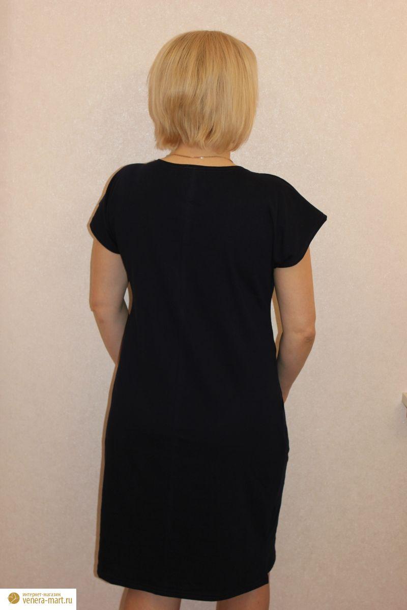 """Платье женское """"Цапля"""" с коротким рукавом"""