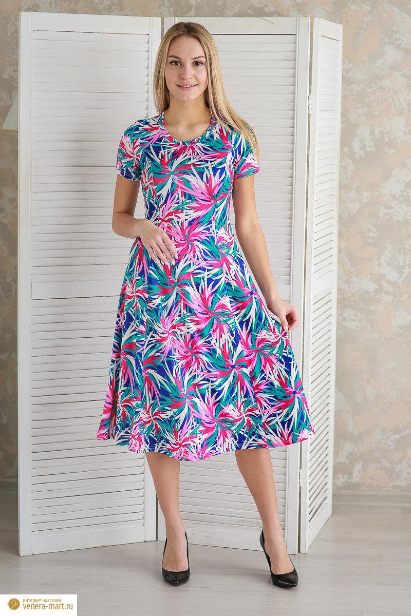 """Платье женское """"Астра"""" с коротким рукавом"""